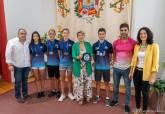 Recepción de los nadadores medallistas del Club Natación Cartagonova