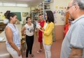 Visita al colegio de Educación Especial Primitiva López en el primer día de clase