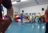Vecinos de Villas Caravaning alojados en el Pabellón Central de Deportes de Cartagena