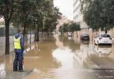 Consecuencia de las lluvias en los aledaños del Rosell