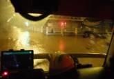 Intervenciones de bomberos con motivo de las lluvias torrenciales