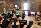Entrenamientos del Club Rítmica Cartagena con el coreógrafo internacional Anton Laine