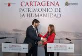 Firma del protocolo de colaboración para la candidatura de Cartagena como Ciuydad Patrimonio de la Humanidad