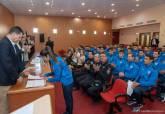 Recepción de los nuevos alumnos de Policía Local de Cartagena en la ESPAC