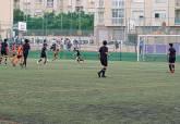 Lance de juego en el partido de alevines entre Nueva Cartagena y FC Cartagena