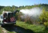 Tratamiento contra los mosquitos realizados por la contrata municipal