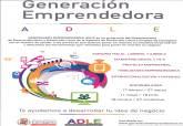 Cartel del programa Generación Emprendedora de la ADLE