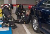 Policía Local y Bomberos participan en un simulacro de incendio en el Espacio Mediterráneo