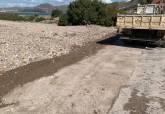 Trabajos de recuperación de la carretera de La Azohía