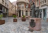 El Ayuntamiento ha repuesto la placa del monumento al Procesionista, sustraída el pasado mes de febrero