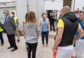 Visita de Noelia Arroyo a las personas en situació de exclusión acogidas en la Hospitalidd de Santa Teresa y el Coto Dorda