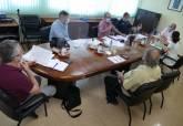 Juan Pedro Torralba en la reunión con los representantes de los comerciantes de venta ambulante y mercadillos
