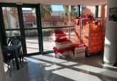 Pabellón de Cabezo Beaza utilizado para albergar a migrantes llegados a Cartagena en pateras