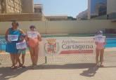 Natación en las piscinas municipales, curso de verano 2020