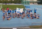 El UCAM Atletismo femenino en al Copa de España disputada en Moratalaz