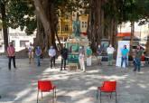 Presentación de la obra de teatro 'Una estatua sin paloma'