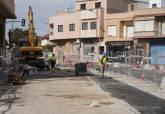 Obras de renovación de saneamiento en Avenida San Juan Bosco de Los Dolores