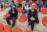 El encuentro del Jimbee en el Palacio de Deportes contó con todas las medidas de seguridad sanitaria
