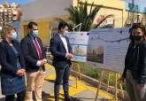 Inicio de las obras del carril bici que discurrirá por La Manga del Mar Menor