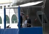 Acto de puesta a flote del submarino S-81 en Navantia por la Familia Real