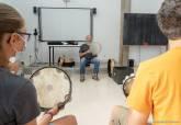 Talleres en el festival de percusión.