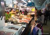 Proyecto Pescados con Arte, en el Mercado Santa Florentina - Se amplía imagen